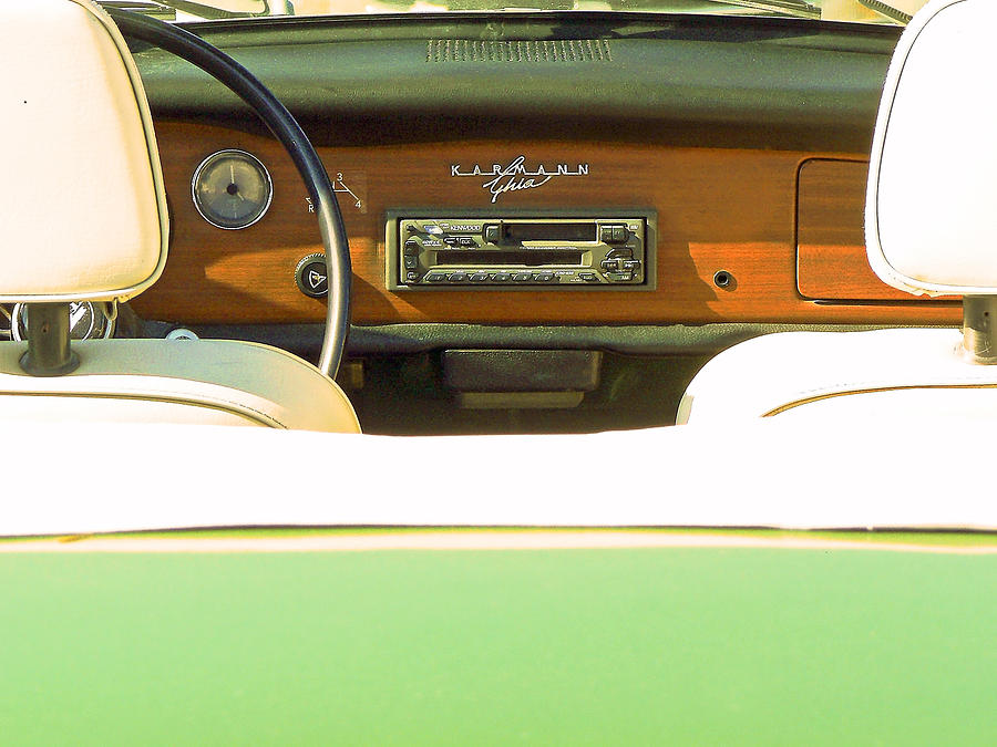 Karmann Photograph - Driving With The Top Down by Pamela Patch
