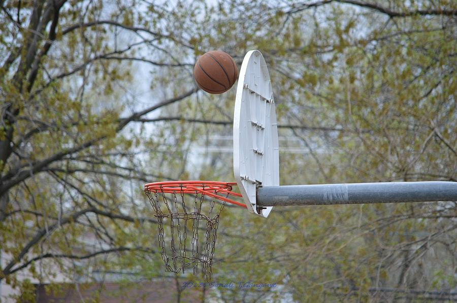 Basket Ball Photograph - Dropping In by Sonali Gangane