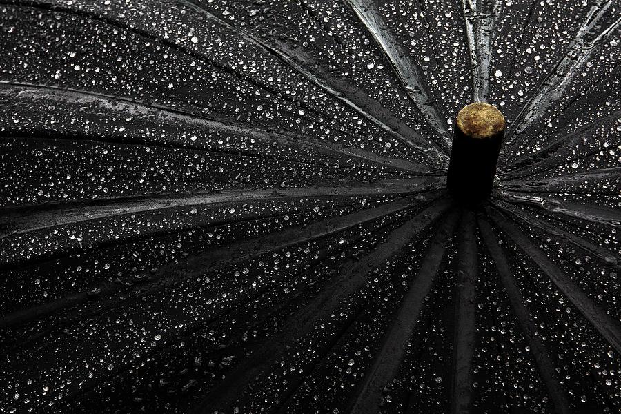 Umbrella Photograph - Drops by Gilbert Claes