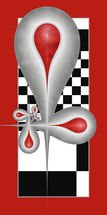 Drops Digital Art - Drops On A Chess Board by Gabiw Art
