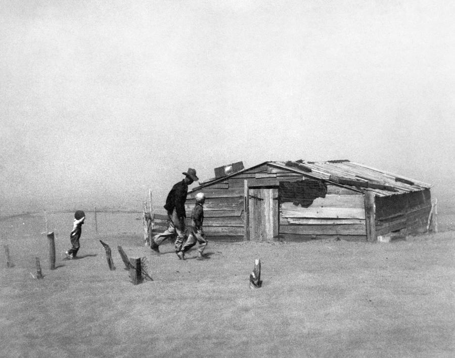 1936 Photograph - Drought Dust Storm, 1936 by Granger