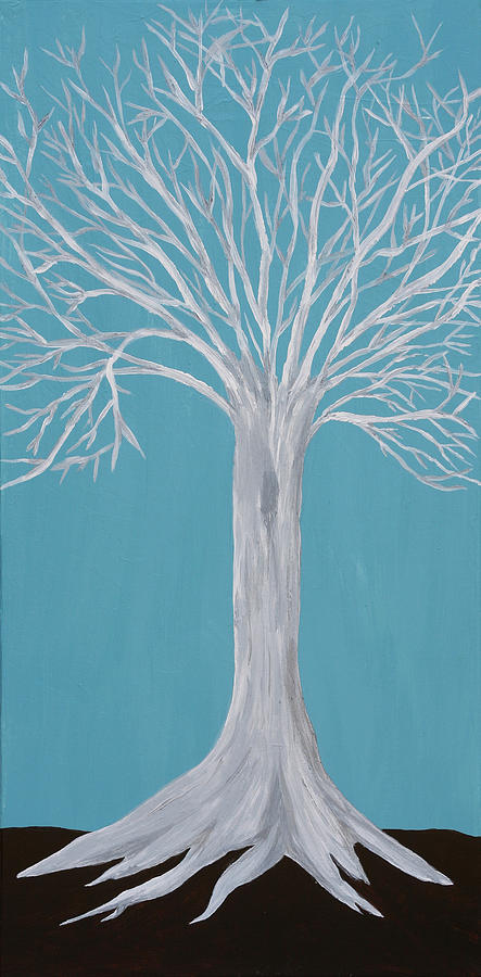 Mystical Painting - Druid Tree 2 by Maura Satchell