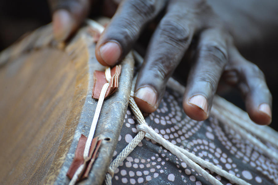Accra Photograph - Drum Makers Hands II by Ronda Broatch