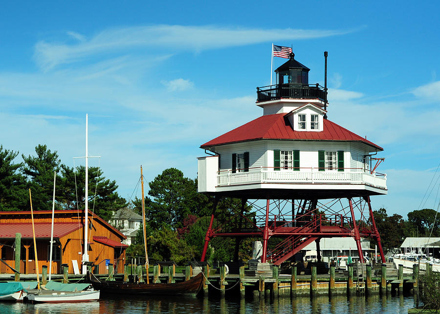 Drum Point Lighthouse Photograph - Drum Point Lighthouse by Rebecca Sherman
