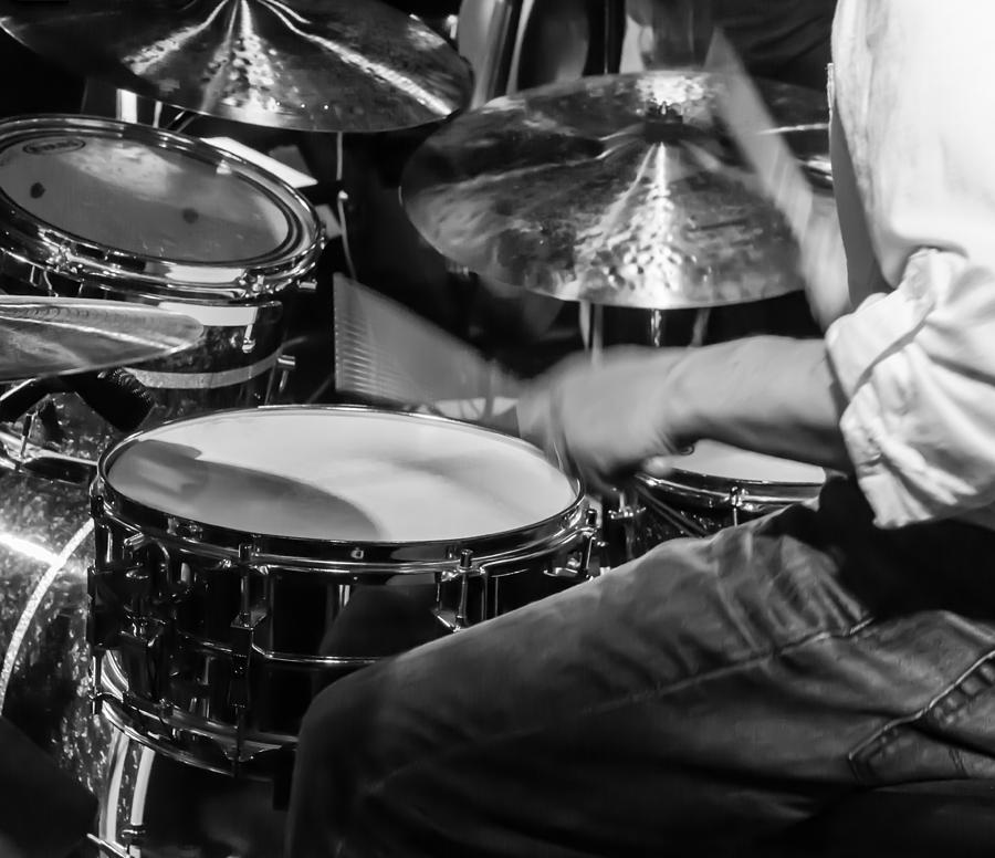 Drum Set Photograph - Drummer at work by Photographic Arts And Design Studio