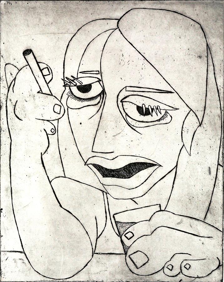 Clay Relief - Drunk Girl by Thomas Valentine