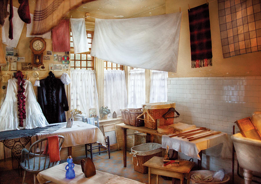 Laundry Photograph - Dry Cleaner - The Laundry Room by Mike Savad