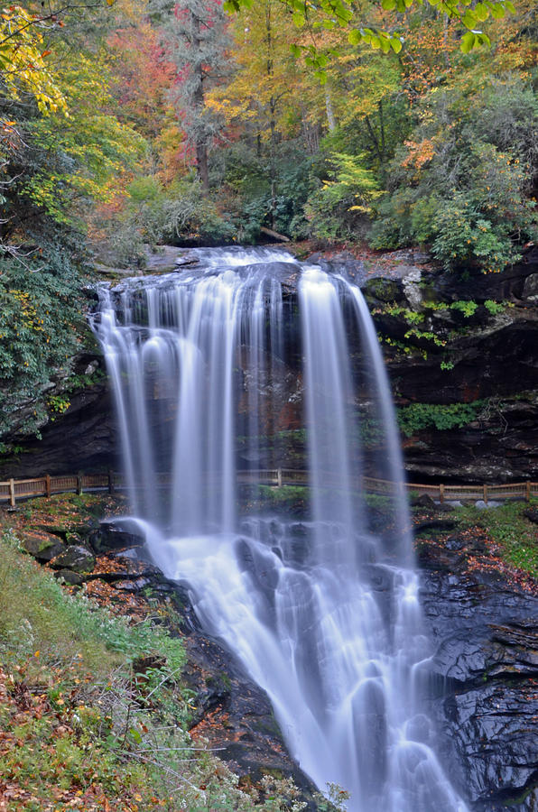 Dry Falls Photograph - Dry Falls In Highlands North Carolina by Mary Anne Baker
