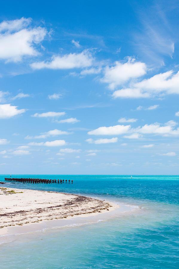 Florida Photograph - Dry Tortugas Coaling Dock by Adam Pender