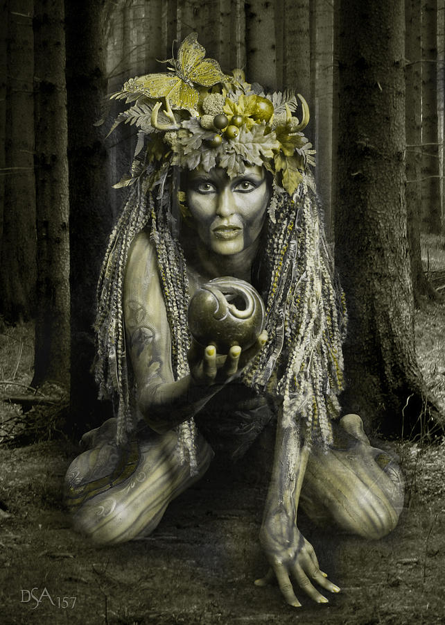 Body Paint Photograph - Dryad I by David April
