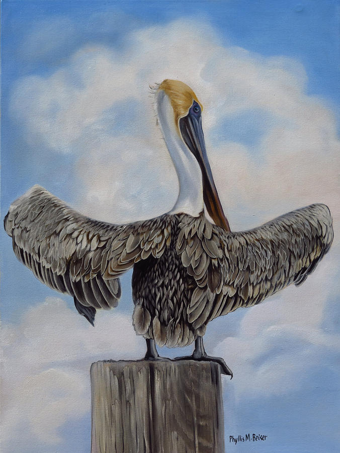 Birds Painting - Drying Out by Phyllis Beiser