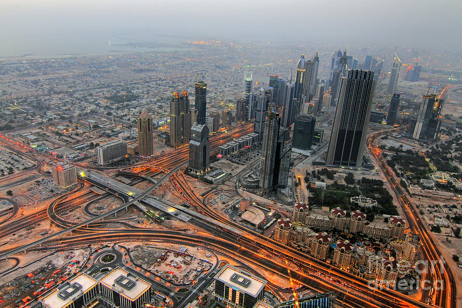 Dubai Photograph - Duabi From Above by Lars Ruecker