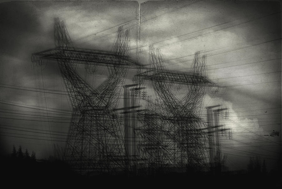 Electrical Lines Photograph - Duality by Taylan Apukovska