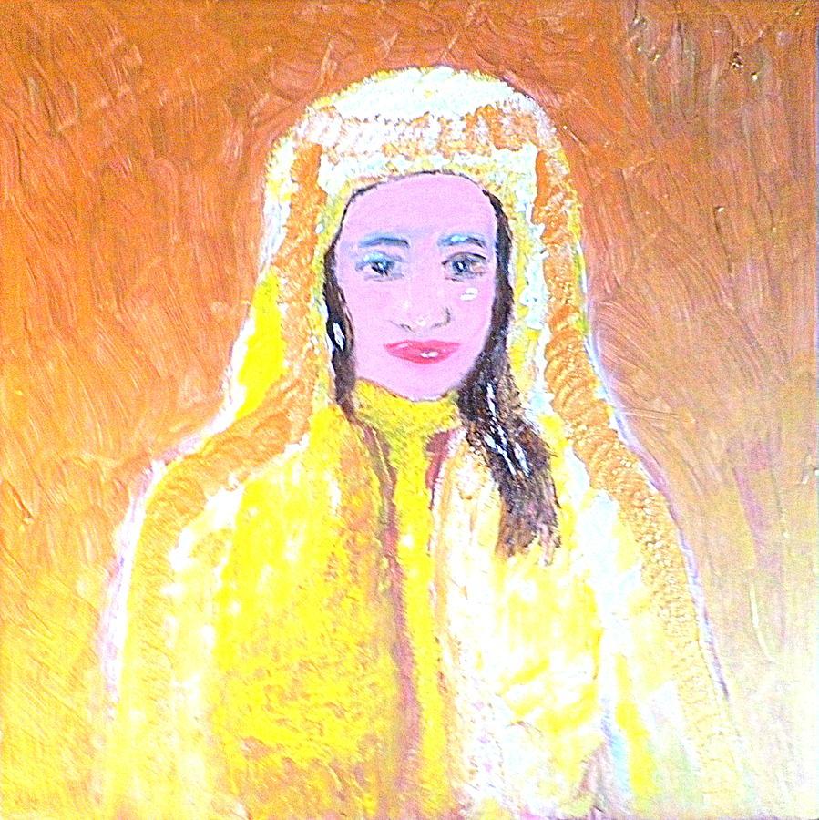 Woman Painting - Dubai Beauty by Richard W Linford