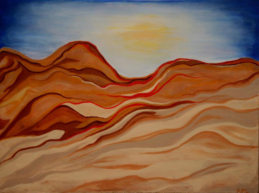 Desert Painting - Dubai Desert by Kathy Peltomaa Lewis