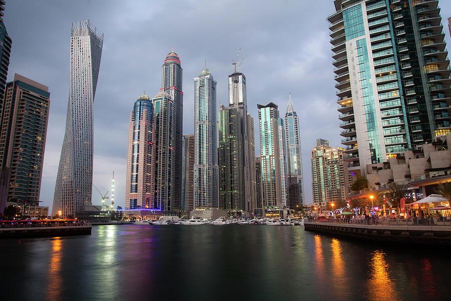 Dubai Marina Afternoon Photograph by Brad Rickerby