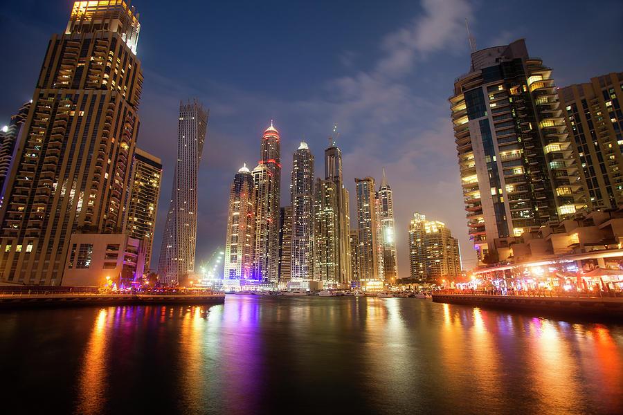 Dubai Marina Dusk Photograph by Brad Rickerby