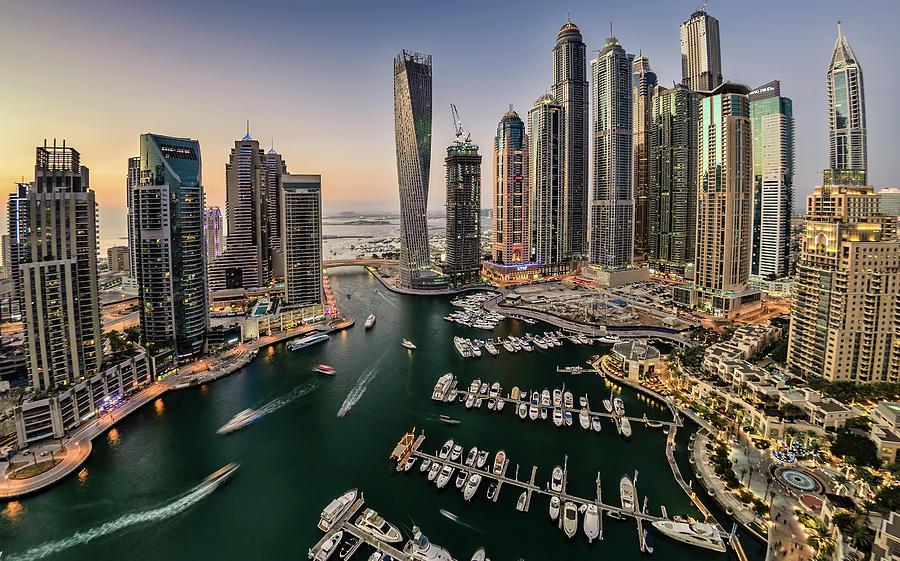 Dubai Marina In The Evening Photograph by © Naufal Mq