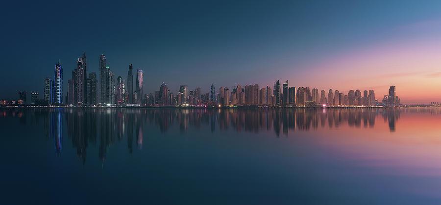 Dubai Photograph - Dubai Marina Skyline by Javier De La