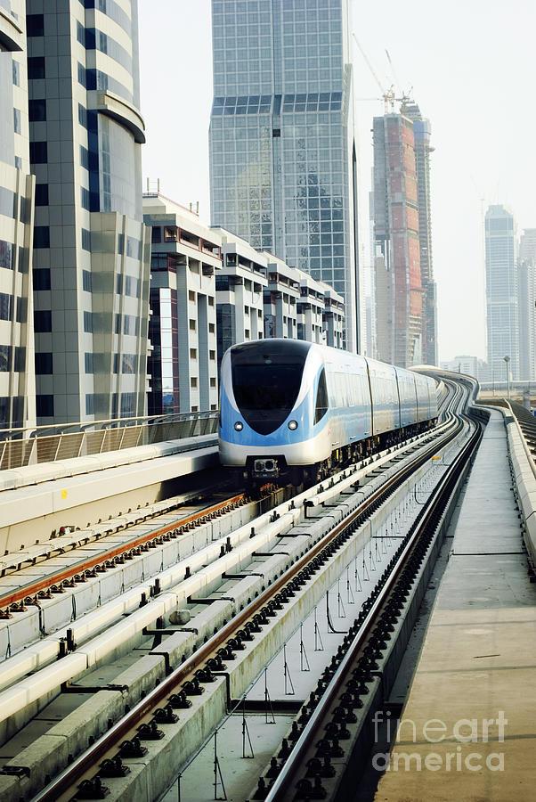 Dubai Pyrography - Dubai Metro by Jelena Jovanovic