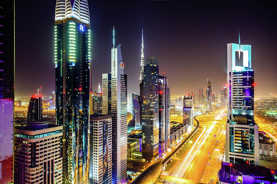 Dubai Skyscrapers, United Arab Emirates Photograph by Mbbirdy