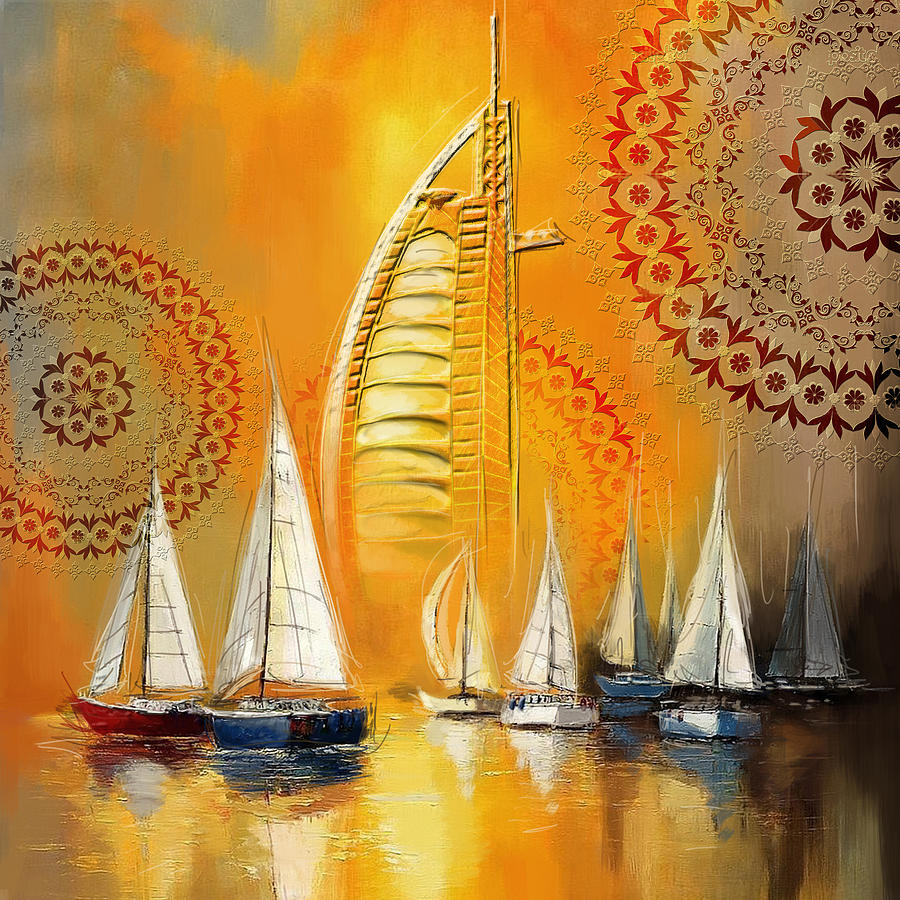 Dubai Motives Painting - Dubai Symbolism by Corporate Art Task Force