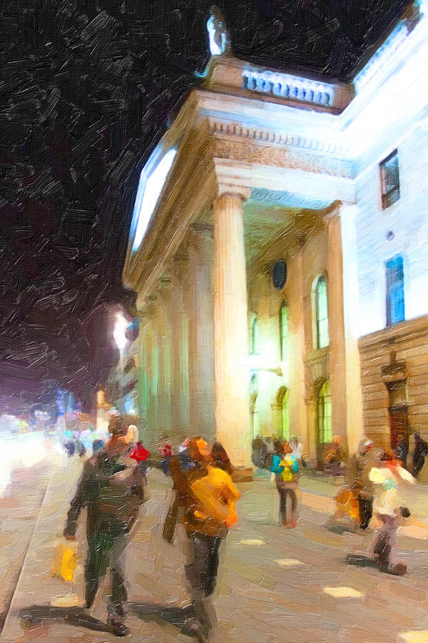 Dublin Photograph - Dublin Ireland Post Office At Night by Mark Tisdale