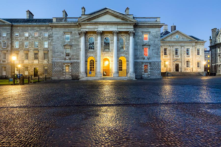 Dublin Photograph - Dublin Trinity College Chapel At Night by Mark E Tisdale
