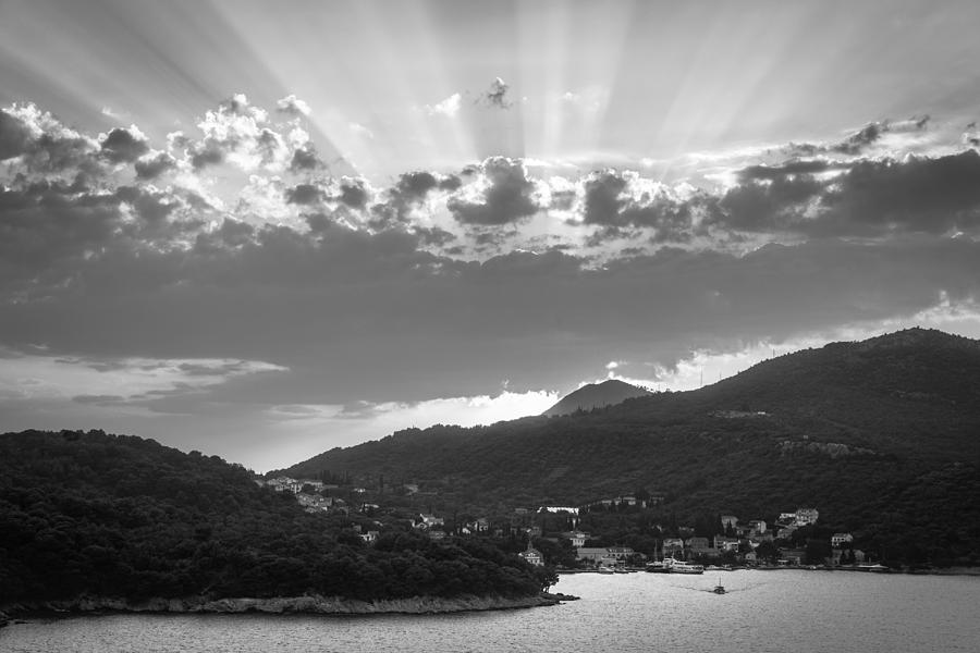 Matti Ollikainen Photograph - Dubrovnik Beams Bw II by Matti Ollikainen