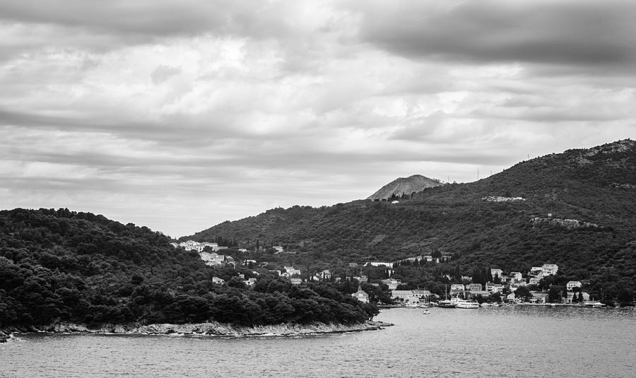 Matti Ollikainen Photograph - Dubrovnik Landscape Bw by Matti Ollikainen