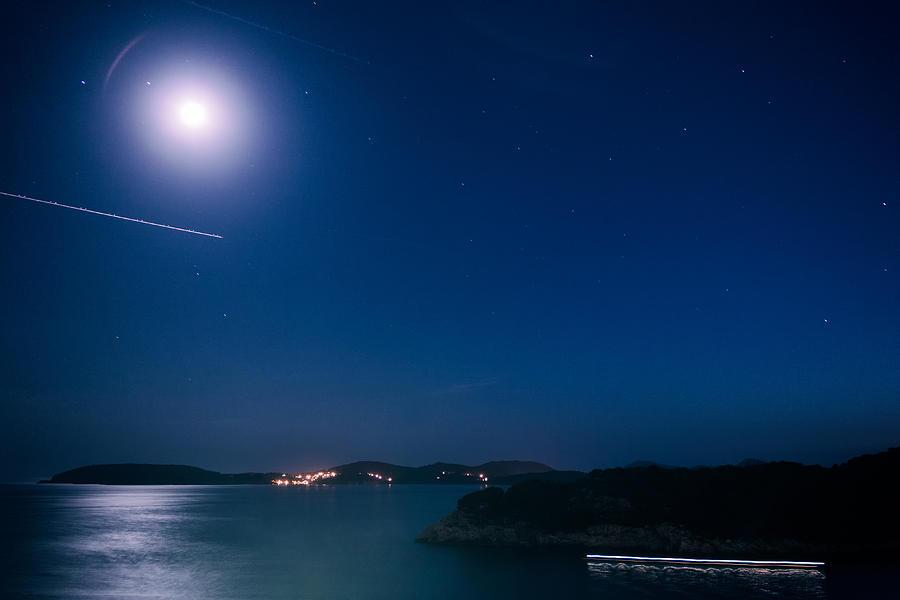 Matti Ollikainen Photograph - Dubrovnik Night Traffic by Matti Ollikainen