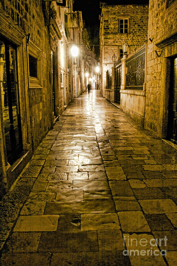 Dubrovnik Streets At Night by Crystal Nederman