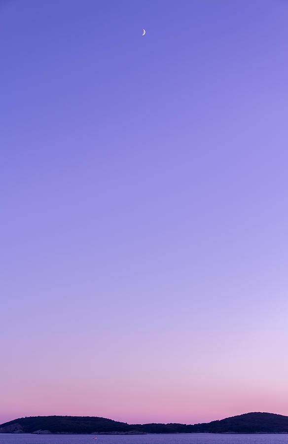 Matti Ollikainen Photograph - Dubrovnik Sunset And Moon by Matti Ollikainen