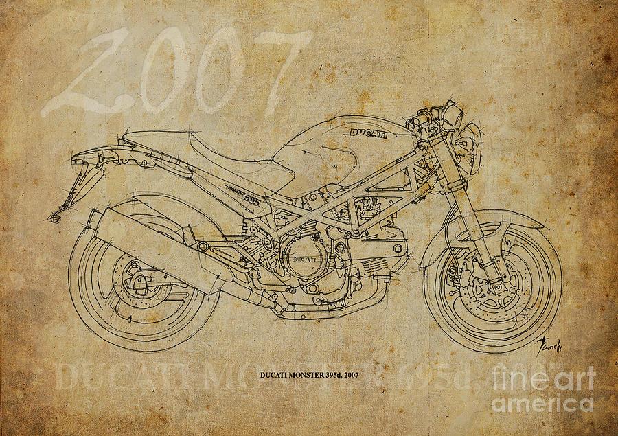ducati monster 695d 2007 drawingpablo franchi