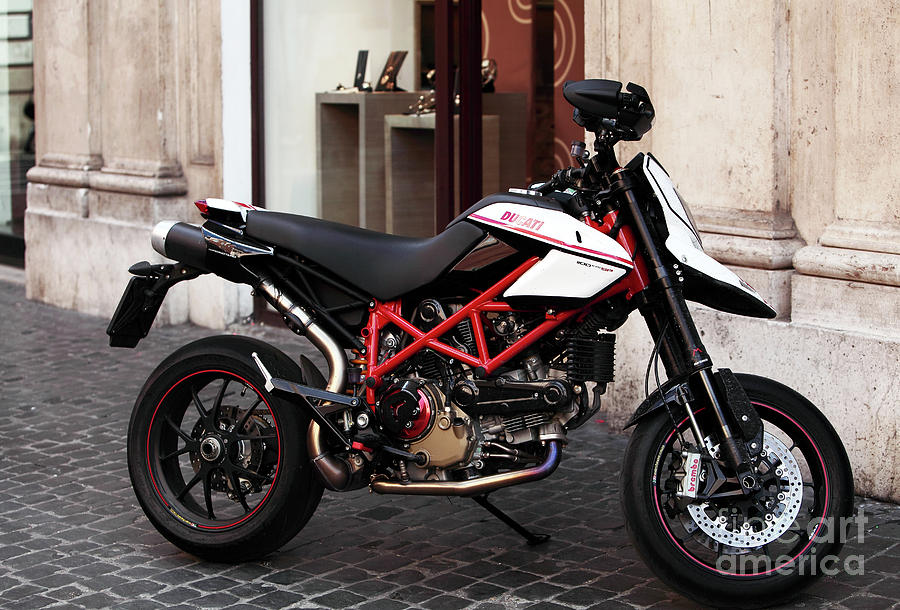 Pictures Photograph - Ducati Motor Cross by John Rizzuto