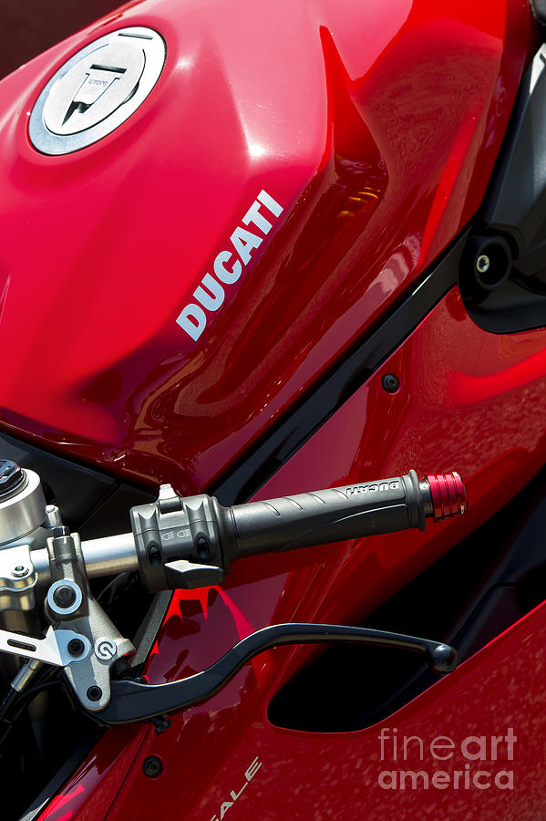 Ducati Panigale Photograph - Ducati Red by Tim Gainey