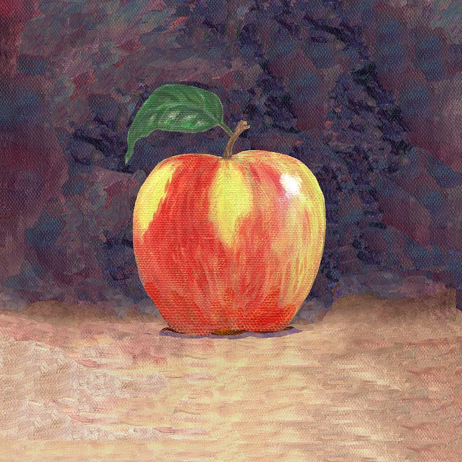 Still Life Painting - Duchess Apple Two by Linda Mears