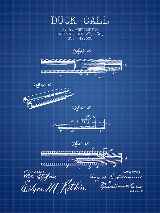 Duck call patent from 1903 blueprint digital art by aged pixel duck call digital art duck call patent from 1903 blueprint by aged pixel malvernweather Image collections