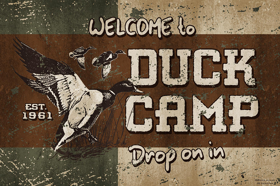 Bruce Miller Painting - Duck Camp by JQ Licensing