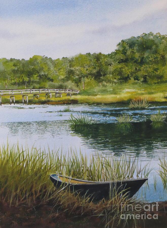 Trees Painting - Duck Creek by Karol Wyckoff