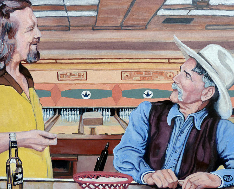 The Dude Painting - Dude Youve Got Style by Tom Roderick