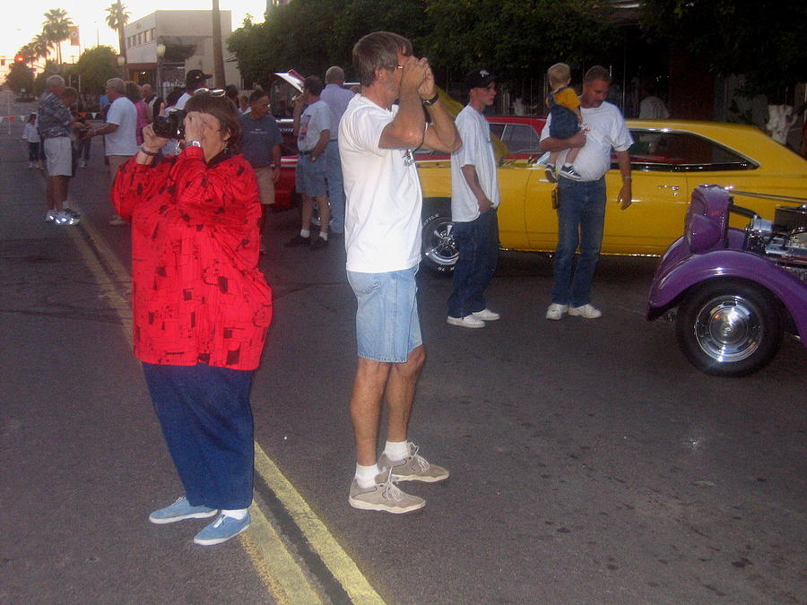 Dueling Photographers Auto Show Downtown Casa Grande Arizona 2004 Photograph