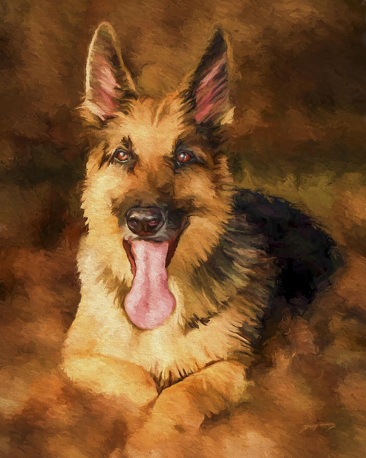 German Shepherd Painting - Duke by David Wagner