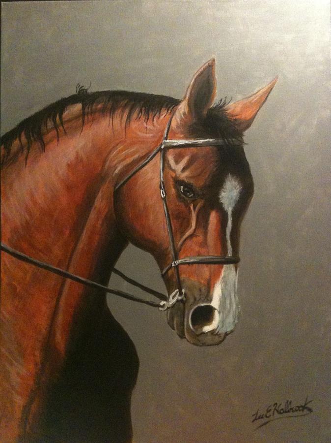Dressage Painting - Duke Of York by Lee Halbrook