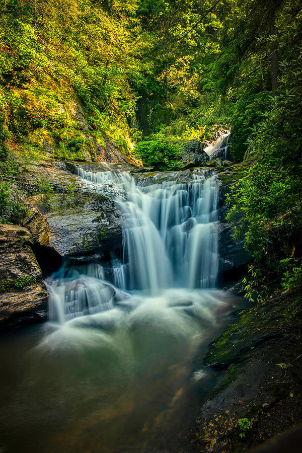 Dukes Creek Photograph - Dukes Creek Falls by John Haldane