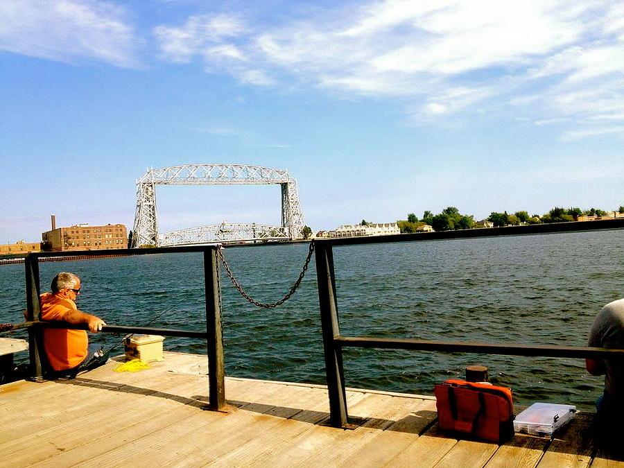 Fishermen Photograph - Duluth Docks by Danielle  Broussard