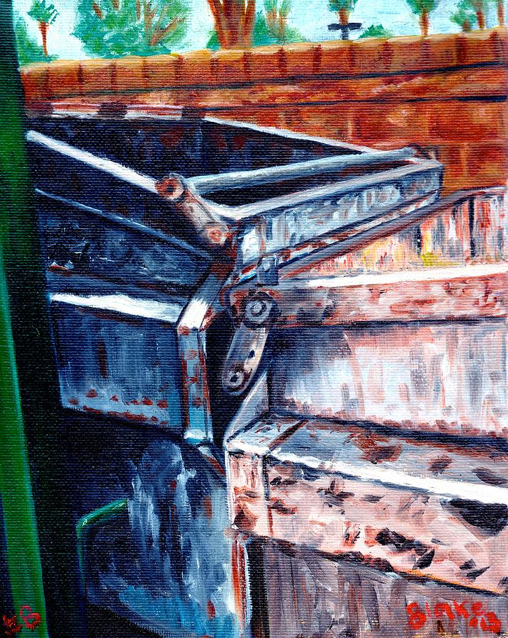 Dumpster Painting - Dumpster No.8 by Blake Grigorian