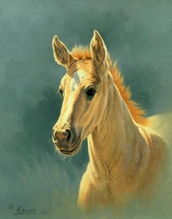 Colt Painting - Dun Colt Portrait by Paul Krapf