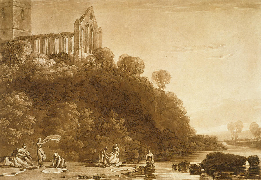 Turner Painting - Dunblane Abbey by Joseph Mallord William Turner
