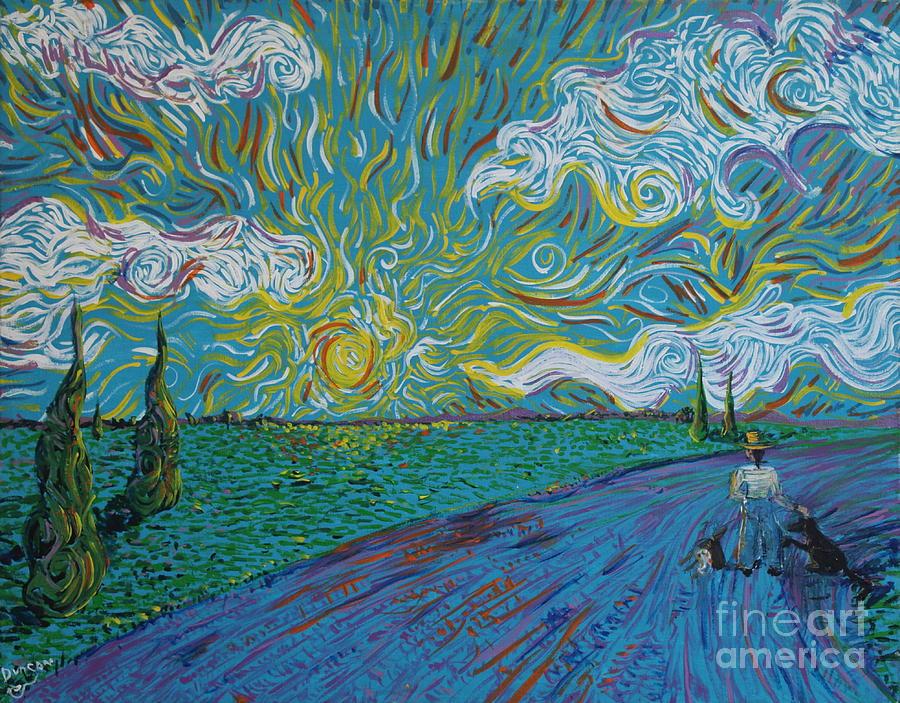 Landscape Painting - Duncan And Haggis by Stefan Duncan